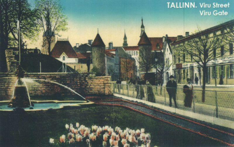 Viru tänav vanal postkaardil