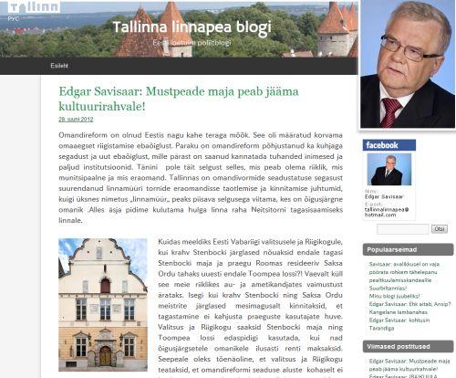 Tallinna linnapea blogi