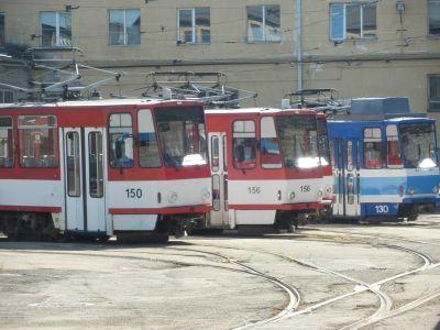 Tallinna trammid: sini-valge ja puna-valge