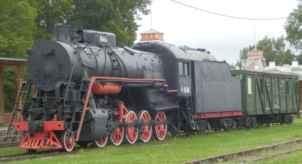 Haapsalu raudteejaam. Auruvedur Л 1646